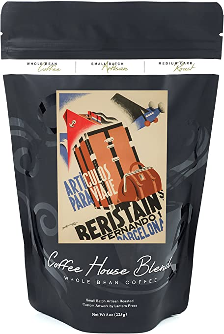Beristain - Articulos para viaje vintage Póster (artista: Bofarull) España C. 1932, 8oz Coffee Bag: Amazon.es: Alimentación y bebidas