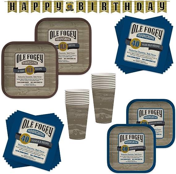 Amazon.com: Ole Fogey Moonshine Vintage 40 cumpleaños fiesta ...