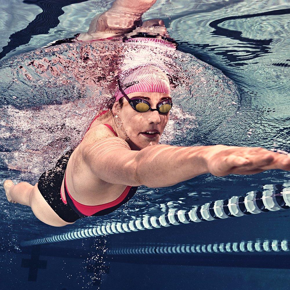 Speedo Women's Vanquisher 2.0 Mirrored Swim Goggles, Panoramic, Anti-Glare, Anti-Fog with UV Protection, Aqua, 1SZ by Speedo (Image #3)