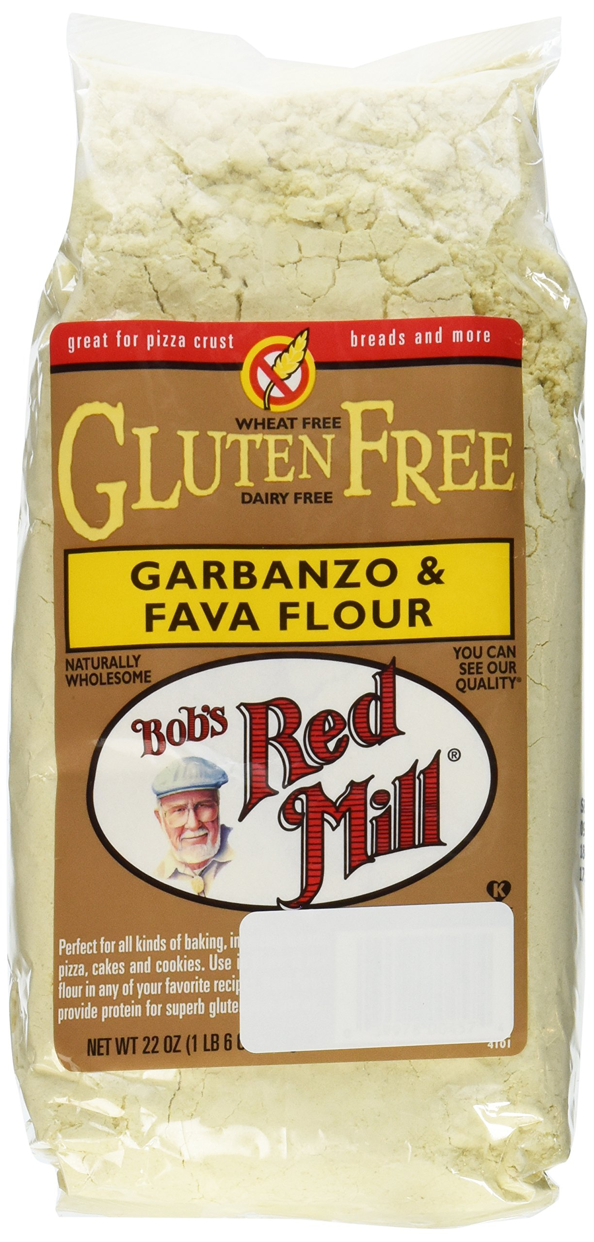 Bob's Red Mill Gluten Free Garbanzo Fava Flour, 22 Ounce (Pack of 2)