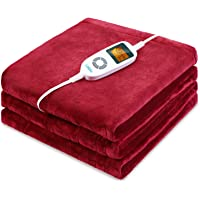 Sable Heated Blankets, Full Size Electric Blanket Throws, Soft Flannel, Full Body Fast Heating, 10 Heat Levels, Auto-Off…