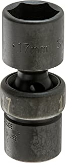 "product image for SKT-33367 3/8"" Drive 6 Point Swivel Metric Impact Socket 17mm"