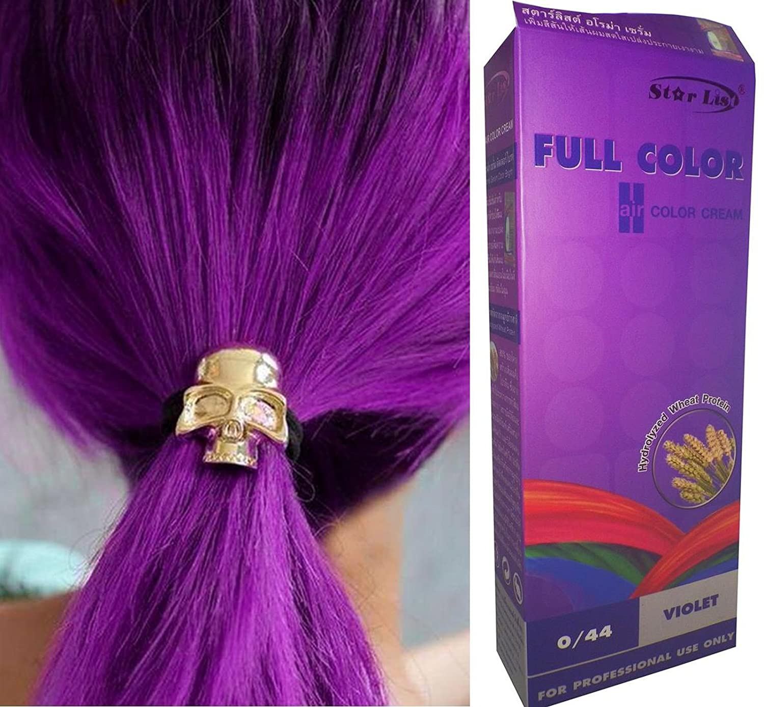 Premium Permanent Hair Colour Cream Dye Bright Blue 033 Punk Goth