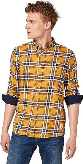 Tom Tailor - Camisa de Cuadros para Hombre, Blusas, Camisetas y Camisas: Amazon.es: Ropa y accesorios