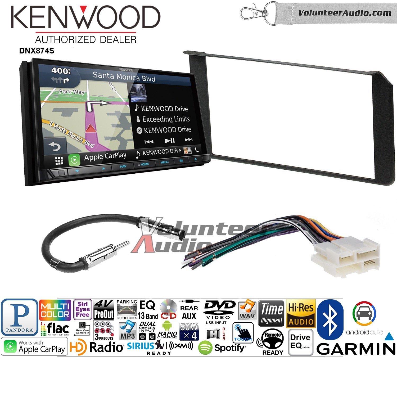 ボランティアオーディオKenwood dnx874sダブルDINラジオインストールキットwith GPSナビゲーションApple CarPlay Android自動Fits 1995 – 2002シルバラード、 B07BYZ4FYZ