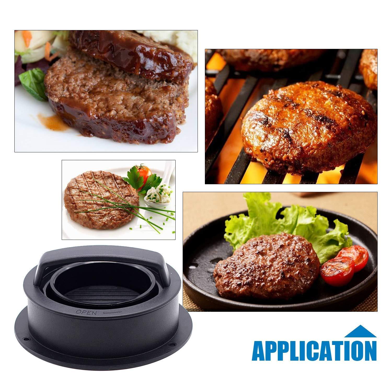 Dishwasher Safe Regular Beef Burger Imncya Burger Press,4-in-1Hamburger Patty Maker, Works Best for Burger Making Kit Kitchen /& Grilling Accessories Hamburger Patty Maker for Grilling