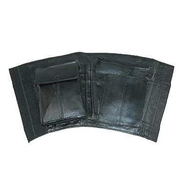 CTM Cartera, tobillo de seguridad de piel Negro negro Talla única: Amazon.es: Ropa y accesorios