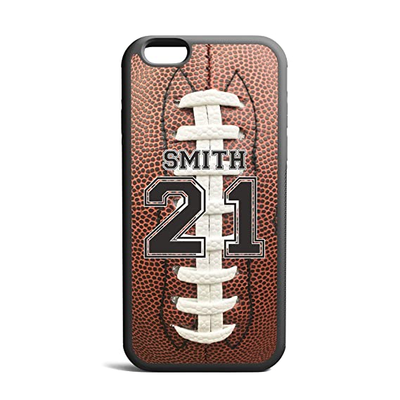 purchase cheap b3581 56dd6 CodeiCases iPhone 5/5s/5SE Football Case With Custom Name And Number,  Football Custom Case, Cover Rubber Black Football iPhone Case