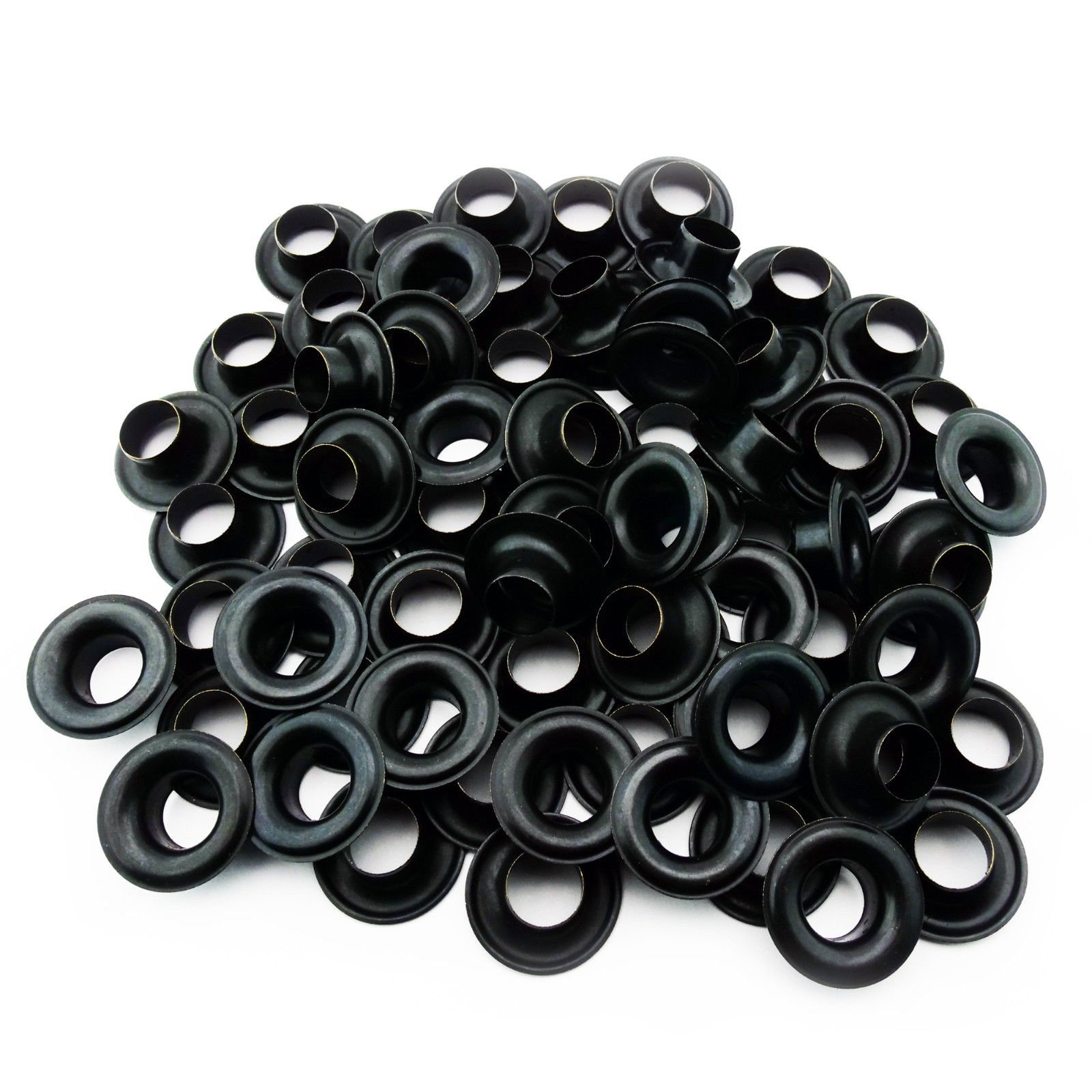 C.S. Osborne Black Grommets & Washers #B1-0 Size 0 (1/4 Hole) 144 Sets