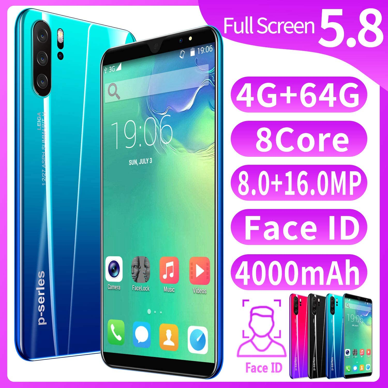 XGLL Pantalla Completa 5.8 Pulgadas Smartphones, 8.0MP + 16.0MP 4GB RAM + 64GB ROM 4000Mah Batería De Iones De Litio Dual SIM Teléfono Móvil,Azul: Amazon.es: Hogar