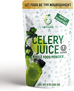 100% CELERY WHOLE FOOD – Our 8 oz Celery Juice Powder is made from one ingredient only i.e. celery juice. Plant-Based, Non-GMO, Gluten-free naturally powerful whole vegetable powder