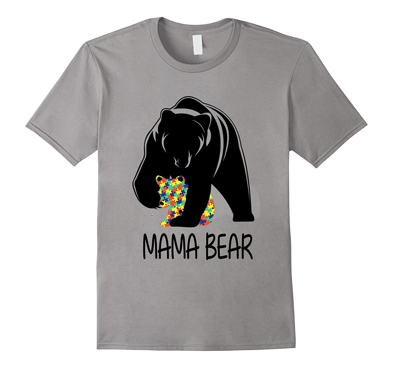 2017 Autism Awareness Mom - MamaBear TShirt-CD