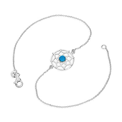 anklet catcher silver dreamcatcher amp dream s claire and turquoise