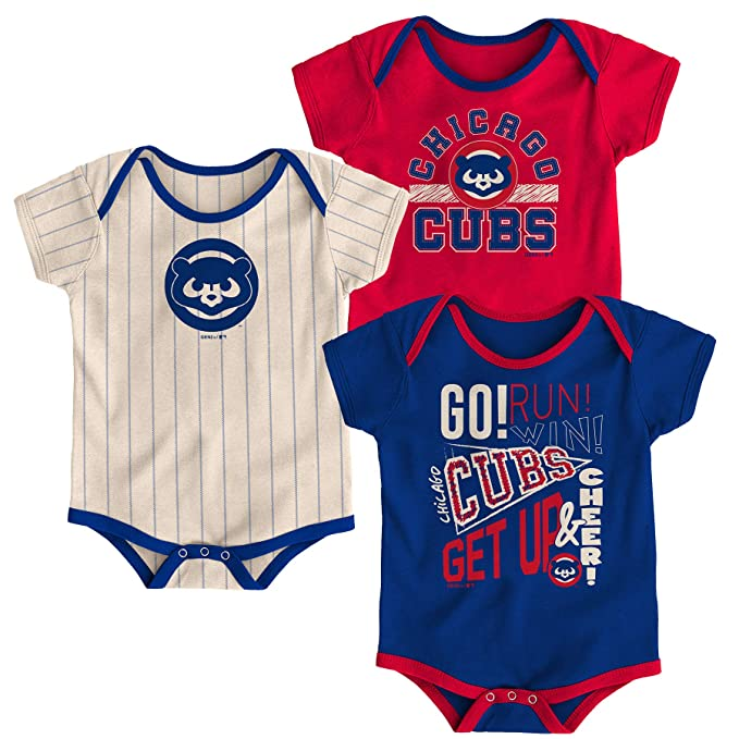 new product ff445 63b73 Amazon.com: Chicago Cubs Baby Boys Newest Rookie 3 Piece ...