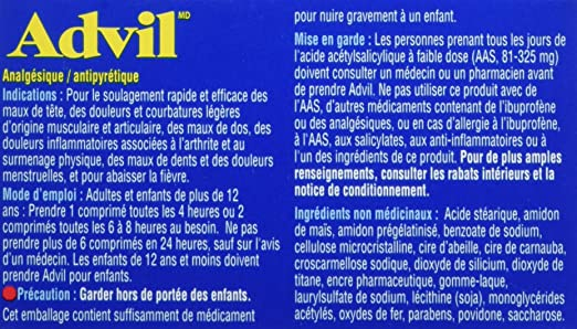 Advil Tablets 50 Count 200 Mg Ibuprofen Temporary Pain Reliever