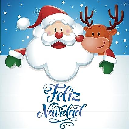 Imagenes De Papa Noel De Navidad.Vinilo Papa Noel Feliz Navidad 60x60cm Elegante Adhesivo
