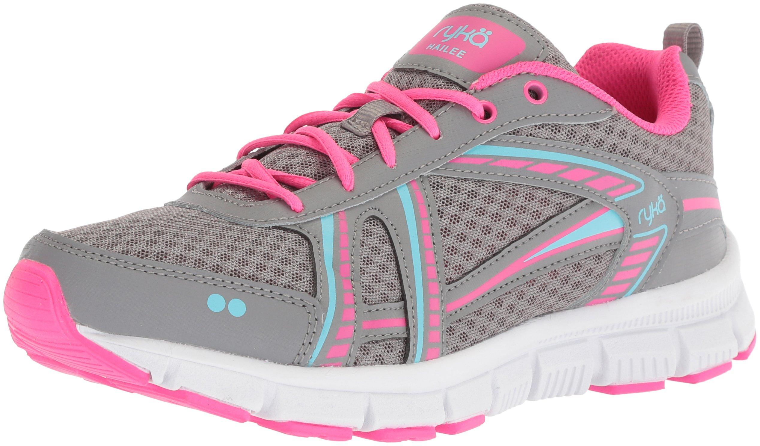 Ryka Women's Hailee Cross Trainer, Grey/Pink/Blue, 10 M US