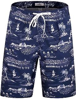 dff8dee680 ELETOP Men's Swim Trunks Quick Dry Board Shorts Beach Holiday Swimwear  Print Bathing Suits