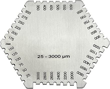 Wet Film Comb Gauge Paint Coating Thickness Meter Tester Tool 25-3000um