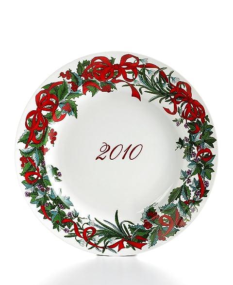 Martha Stewart Holiday Garden 2010 Porcelain Dinnerware Plate White  sc 1 st  Amazon.com & Amazon.com | Martha Stewart Holiday Garden 2010 Porcelain Dinnerware ...
