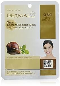 DERMAL Snail Collagen Essence Facial Mask Sheet 23g Pack of 10