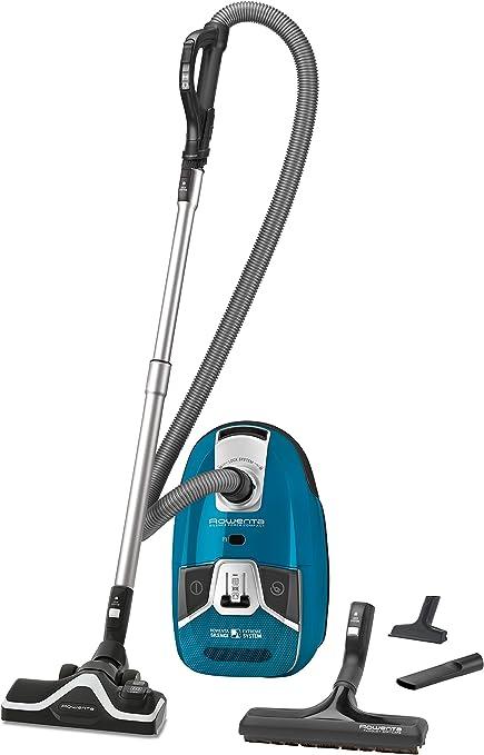 Rowenta ro6361ea Silence Force 4 A + COMPACT Parquet aspirador con bolsa, muy silencioso, 3.5 L), color azul: Amazon.es: Hogar