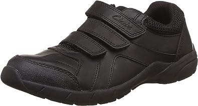 Boys Clarks Shoes Air Learn Black Size