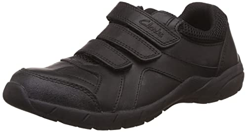Clarks Air Learn Junior Boys School Shoes Black Junior 1 G