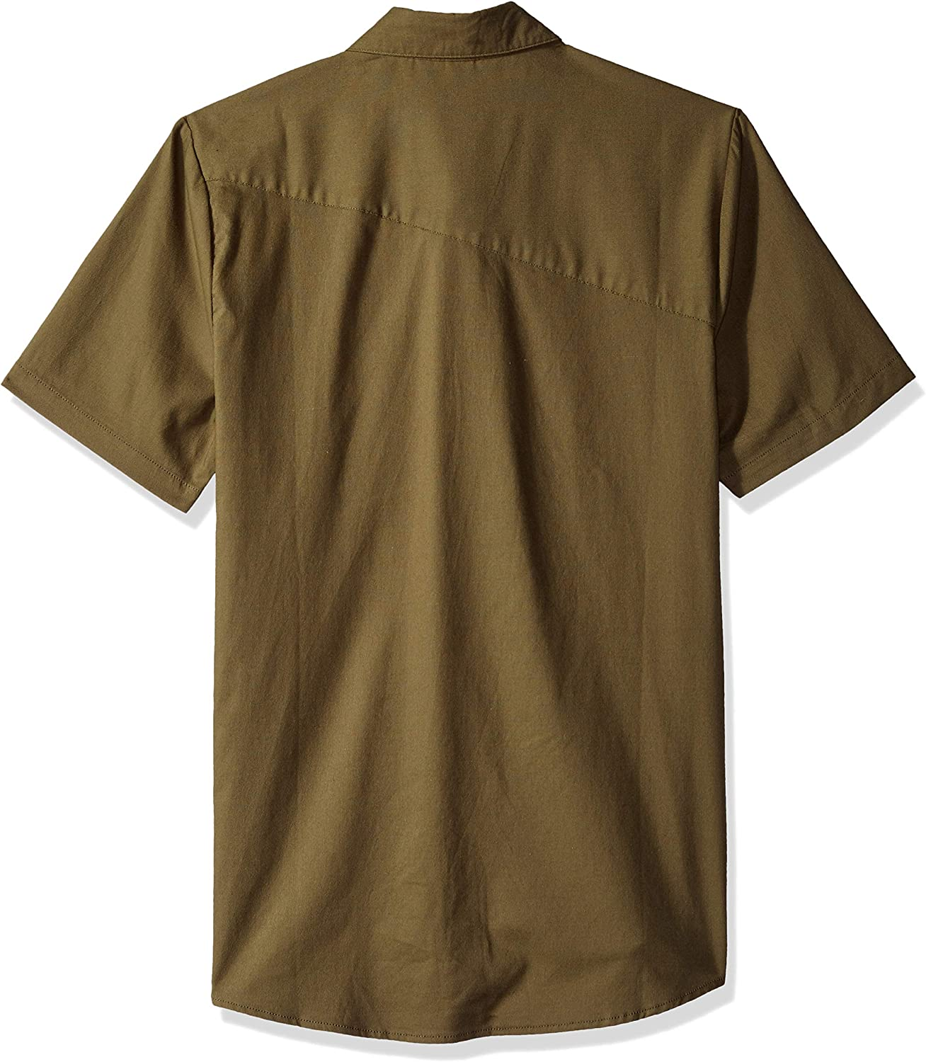 Volcom Men's Everett Oxford Short Sleeve Shirt Button Military