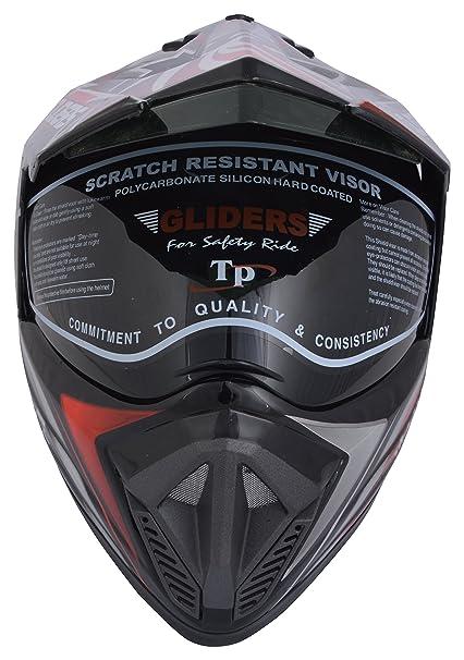 3c750ea9 Gliders MC2 D5 Motocross Helmet with Mirror Visor (Red, L): Amazon.in: Car  & Motorbike