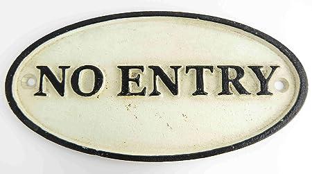 Cartel No Acceso Prohibido No Entry de acceso prohibido ...