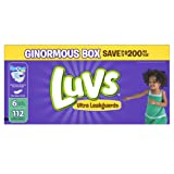 Amazon Price History for:Luvs Ultra Leakguards Diapers, Size 6, 112 Count