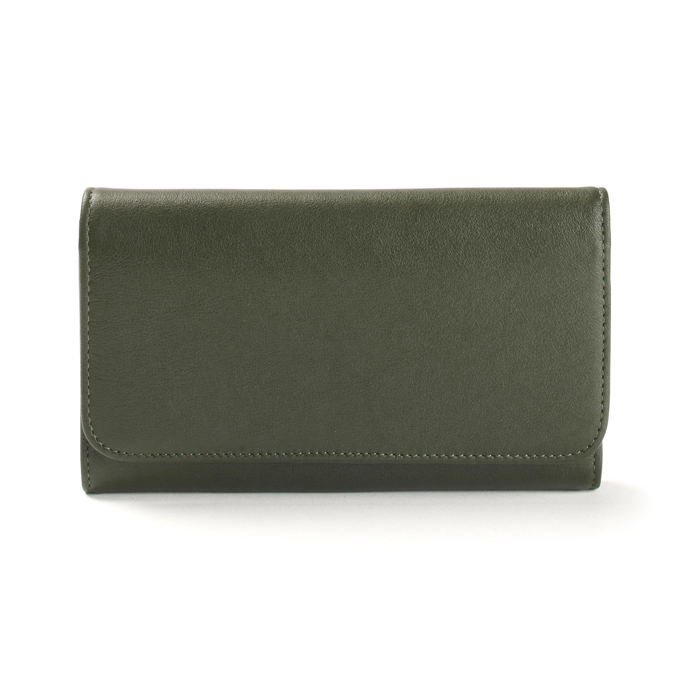 Checkbook Clutch Wallet - Full Grain Leather - Hunter Green (green) by Leatherology