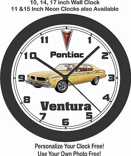 Amazon Com Jims Classic Clocks 1974 Pontiac Ventura Big 10 Inch