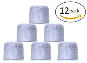 12 Pack Replacement Capresso Charcoal Water Filters - Replaces 4440.90 Coffee Filters