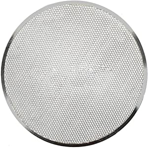 Pizza Screen Cookware Bakeware Accessories For Oven Baking Tray Kitchen Tool sy Clean Home Aluminum Alloy Restaurant Thickened Flat Mesh Gadgets(12inch)