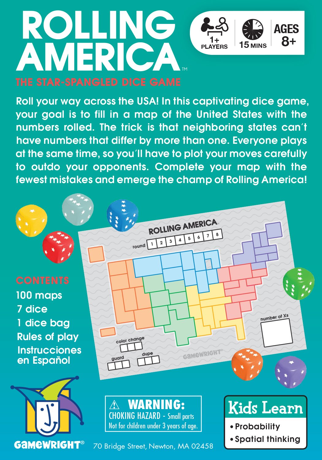 Amazon Com Rolling America The Star Spangled Dice Action Game Toys Games