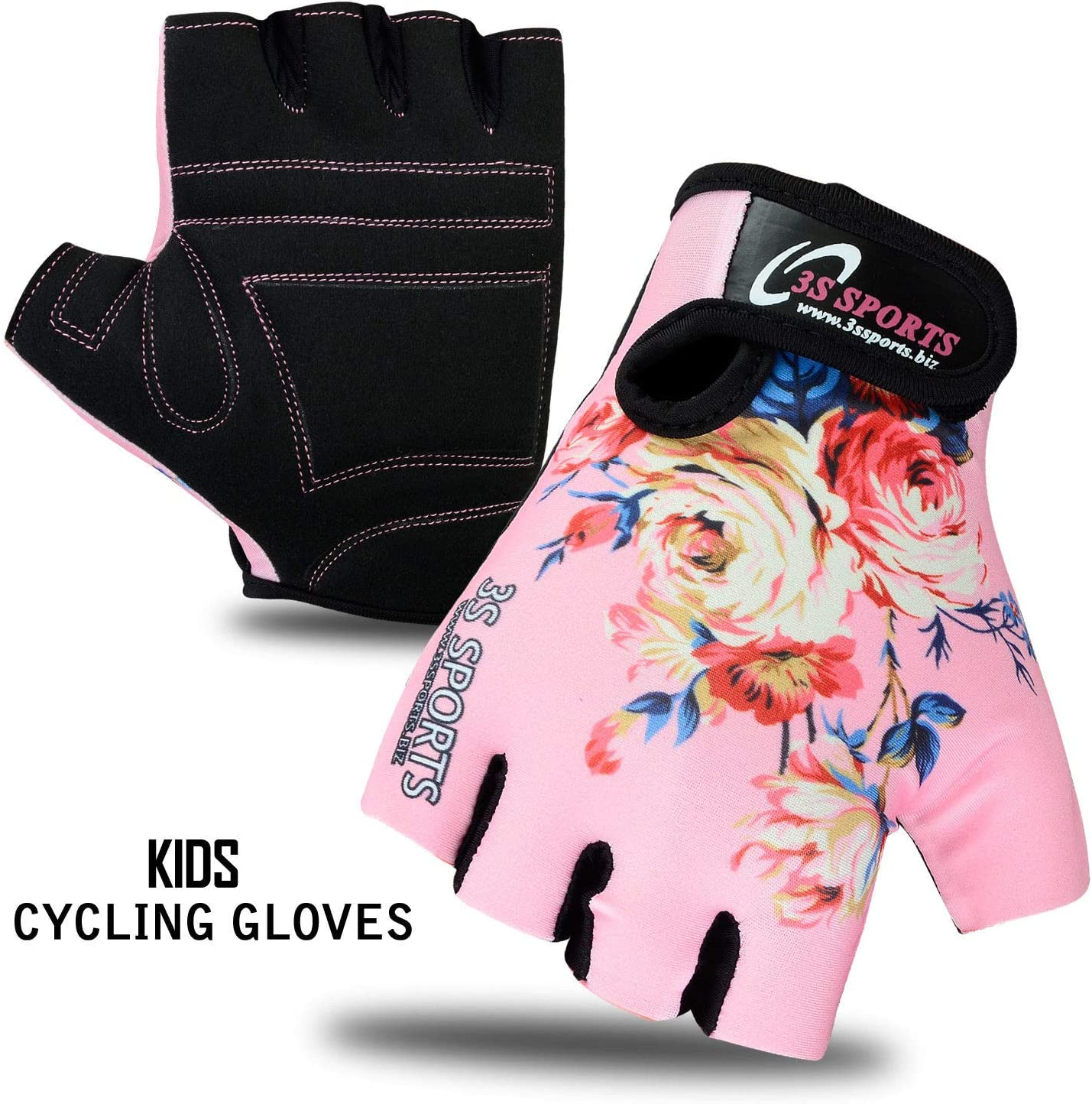 NEW CHILDREN KIDS BOYS GIRLS PADDED CYCLING GLOVES CYCLE BICYCLE BMX BIKE GLOVES