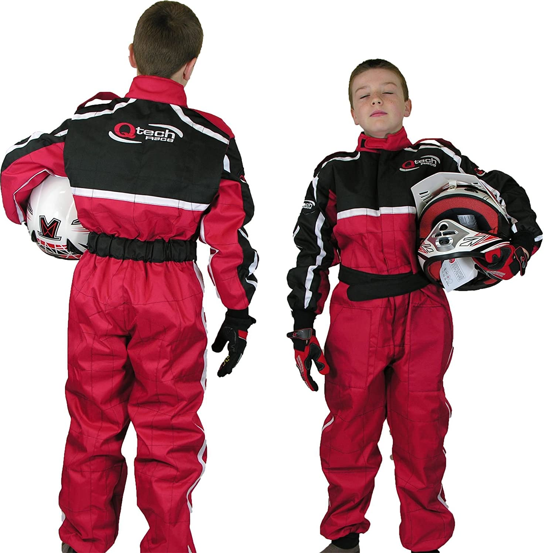 TUTA DA CORSA intera motocicletta go kart motocross da bambini Qtech S Rosso
