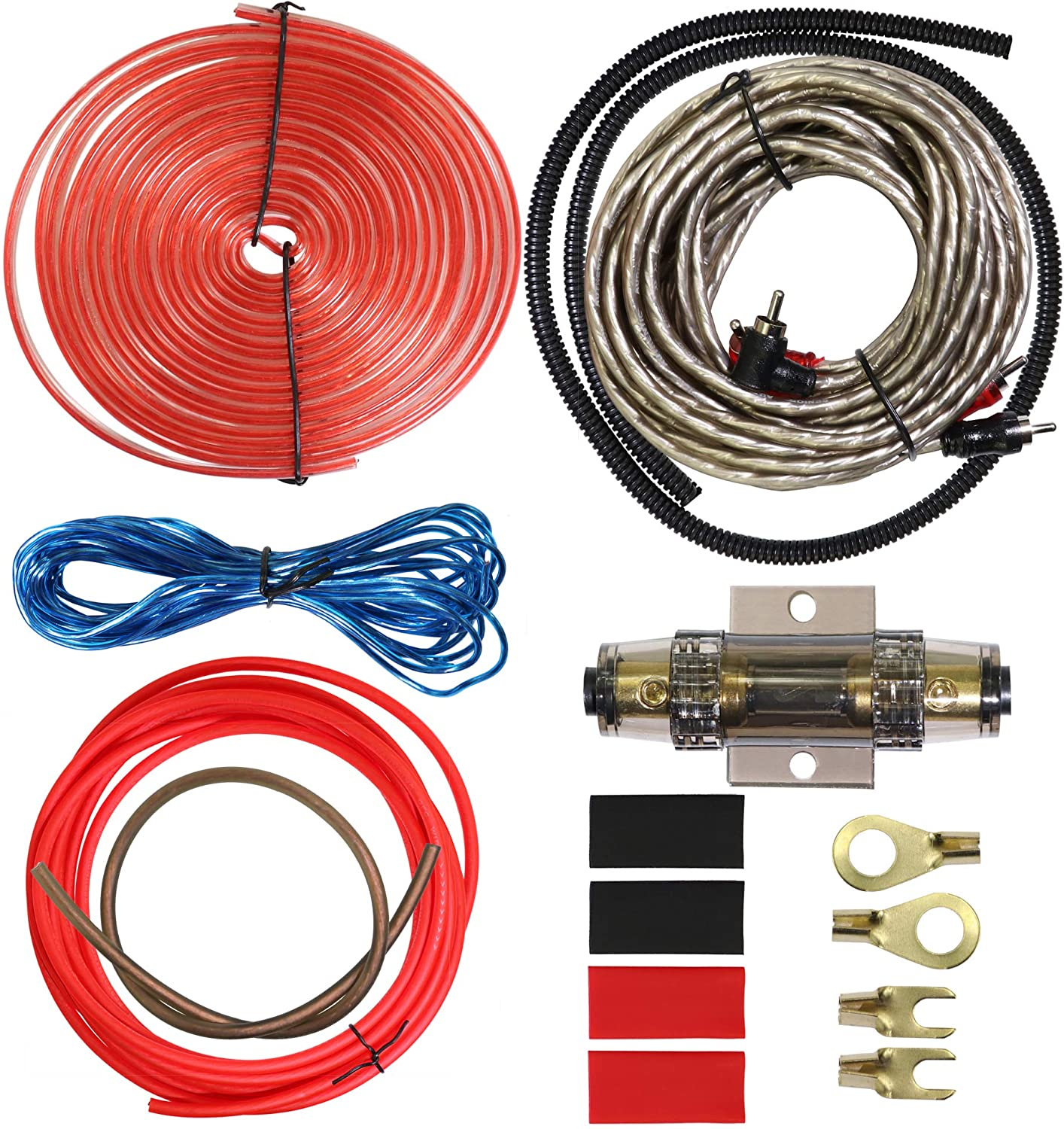 [DIAGRAM_5UK]  Amazon.com: 8 Gauge Car Amp Wiring Kit - Welugnal Amp Power Wire Amplifier  Installation Wiring Wire Kit, Power, Ground, Remote Cable, RCA  Cable,Speaker Wire, Split Loom Tubing Fuse Holder Subwoofers Wiring kit: | Car Audio Amp Wiring Kits |  | Amazon.com