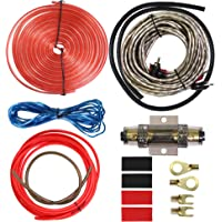Etopar Car Amplifier Wiring Kit Audio Subwoofer AMP RCA Power Cable AGU FUSE 8 Gauge GA AWG Wire Install Connector Holder Automotive Van