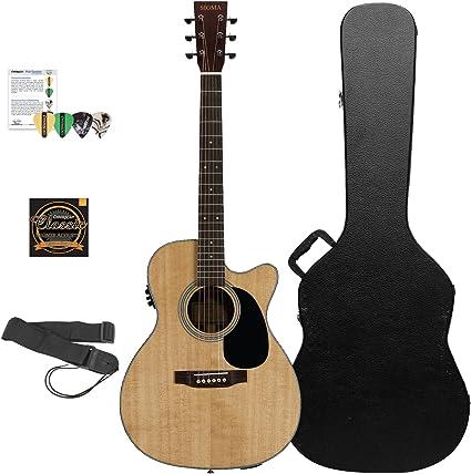 Sigma guitarras sólido un grado superior de abeto Sitka guitarra ...