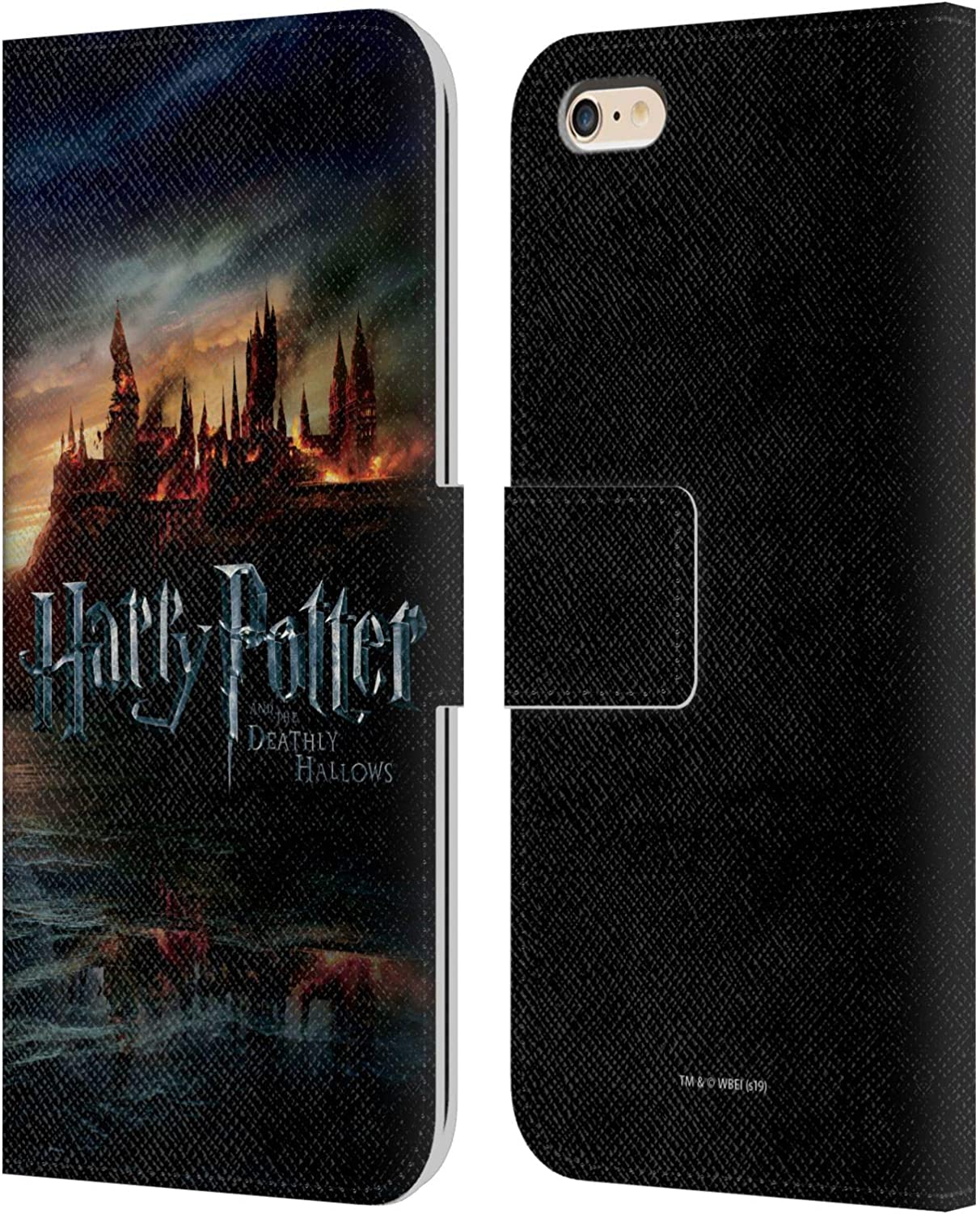 Head Case Designs Officially Licensed Harry Potter Castle Deathly Hallows VIII Leather Book Wallet Case Cover Compatible with Apple iPhone 6 Plus/iPhone 6s Plus