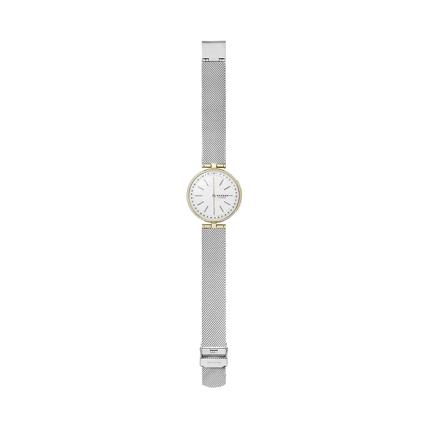 Mesh Connected Skagen Hybrid Signatur T SilvermodelSkt1413 SmartwatchColorGold And Bar Steel Women's Stainless Two Tone edoWrBCx