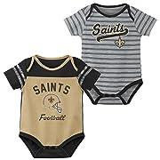 Outerstuff NFL NFL New Orleans Saints Newborn & Infant Dual-Action 2 Piece Bodysuit Set Boulder, 6-9 Months