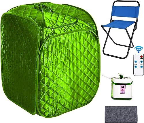elifine Portable Steam Sauna Spa Home 2L Personal Therapeutic Sauna