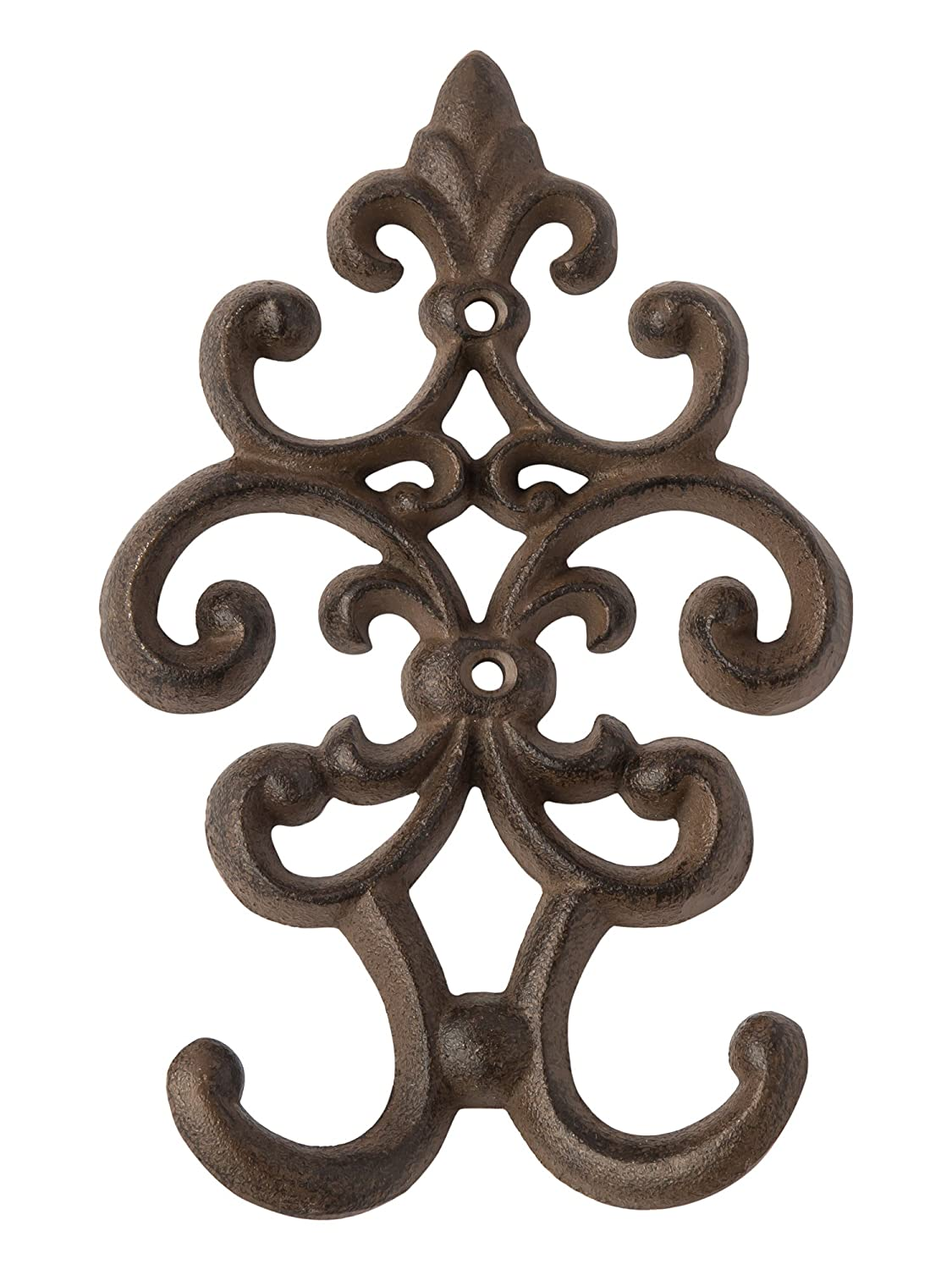 Cast Iron Vintage Double Wall Hook Decorative Wall