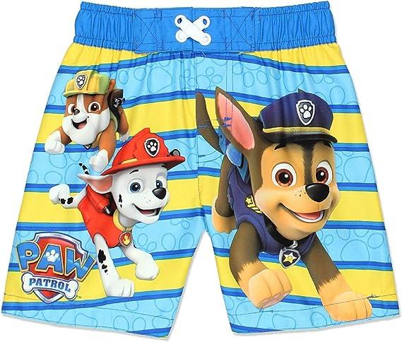 Nickelodeon Paw Patrol Navy Striped Boys Swim Trunks Shorts  2T 3T 4T