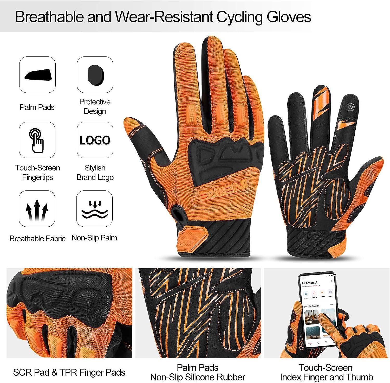 Fixed-Gear-Radfahren usw Mountainbiken Faltradfahren INBIKE MTB Handschuhe Motocross 100/% Voll Schutz mit TPR Fingerpads und SCR-Pad f/ür Flexibilit/ät beim Rennradfahren