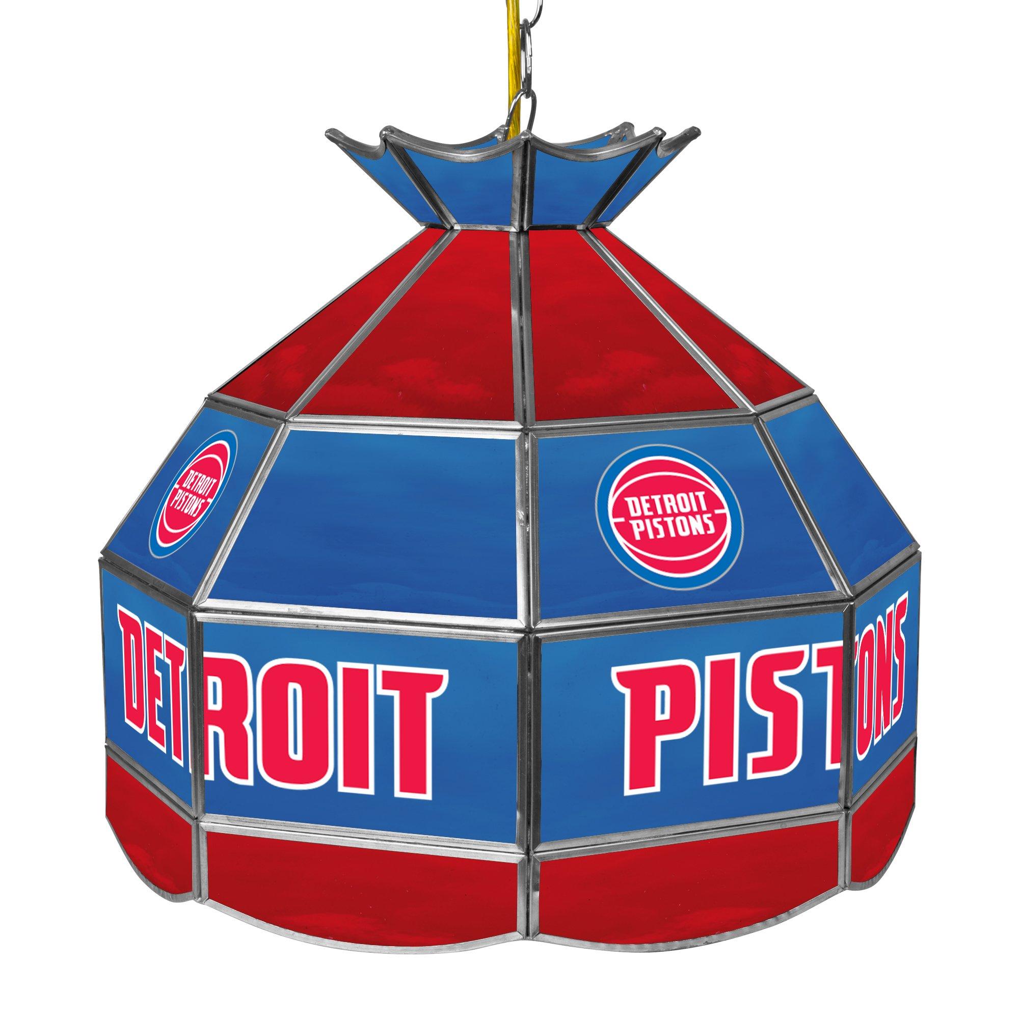 NBA Detroit Pistons Tiffany Gameroom Lamp, 16'' by Trademark Gameroom